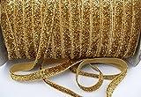 yycraft 5Meter Glitzer Elastic Band für Haar Krawatten Headbands, gold, 1 cm (3/8