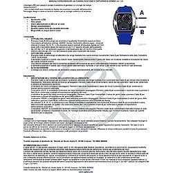 TIMETOP Cool Car Meter Dial Unisex Blue Flash Dot Matrix LED Racing Watch Black