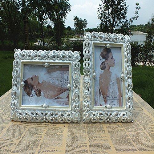 XBR Fotos de boda blanco europeo _ Resina Marco foto cuadro joyas Fotografia Fotos de todos modos,7...