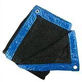 90 %Farbe Black Sun Mesh Schirm, Sonnenschutz UV Beständig Netz für Garten, Blumen