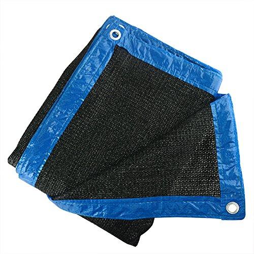 90% Abat-jour Noir Soleil en maille solaire Abat-jour Tissu résistant aux UV Filet pour jardin fleurs plantes 10'x10' noir