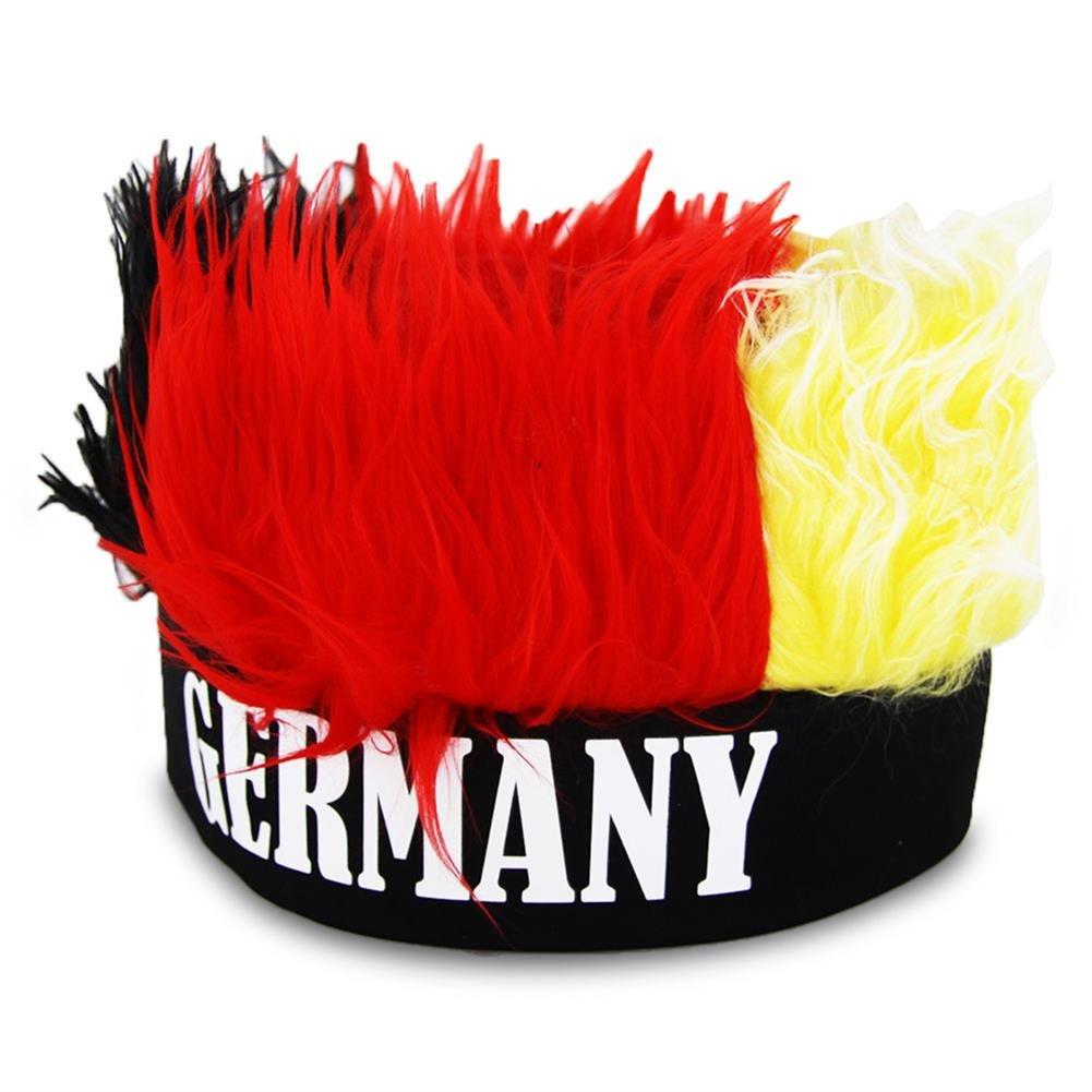 Berretto con capelli Germania fascia con sue peluche capelli WM EM
