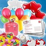 Komplett Set 50 Heliumballons für die Hochzeit