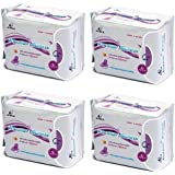 AiRiZ ACTIVE OXYGEN & NEGATIVE ION RELAX SOFT COTTON SANITARY NAPKIN FOR Day USE -(40 Pads in 4 Pack) Sanitary Napkin/Pad