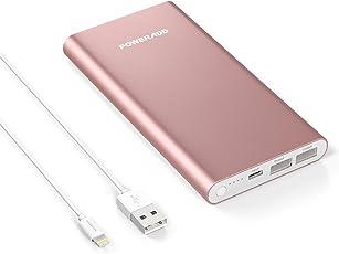 POWERADD Pilot 4GS 12000mAh iPhone Lightning Externer Akku Handy Ladegerät, Speziell für iPhone 8, X, 7, 7 Plus, 6, 6 Plus, 6s, 5, 5s, 5c