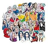 Monifuon 50pcs Billie Eilish Aufkleber, Vinyl Kawaii Sticker für Laptop, Wasserflaschen, Gepäck,...