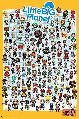 Little Big Planet 3 Poster Charaktere (61cm x 91,5cm) + 2 St. transparente Posterleisten mit Aufhängung