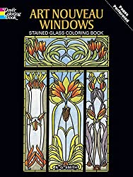 Art Nouveau Windows. : Stained Glass Coloring Book