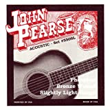 John Pearse 550SL Jeu de cordes pour Guitare Phosphore Bronze Extra Light