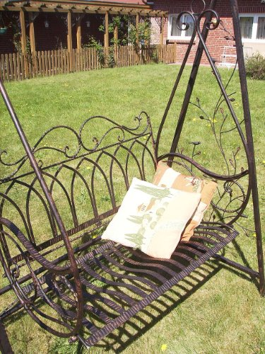 Schaukel Hollywoodschaukel Gondel 1868 aus Metall Schmiedeeisen Gartenschaukel - 4