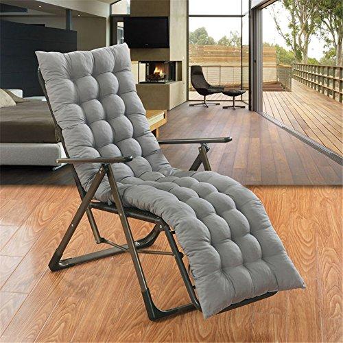 Ommda Hochlehner Sitzauflagen für Gartenmöbel Hochlehner Polsterauflage Hochlehner Auflagen 8cm Grau 155x50x8cm