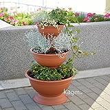 Blumensäule Blumenampel Blumentreppe Blumenständer terracotta