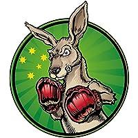 Kangaroo Funny Sport Boxing Car Bumper Sticker Decal 12 x 12 cm