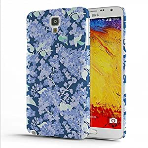 Koveru Designer Printed Protective Snap-On Durable Plastic Back Shell Case Cover for Samsung Galaxy Note 3 Neo - Lilac Design