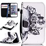 CareyNoce iPhone 4/4S Coque,Fille Licorne Fleur Chien Retro Painted Embossed Pattern...