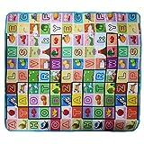 Baoblaze Weiche Baby Jungen Mädchen Spielteppich Spielmatte Lernteppich Babydecke Krabbeldekce Kinder Dekce Buchstaben Früchte motiv - wie bild, 200 * 180 * 0.5cm