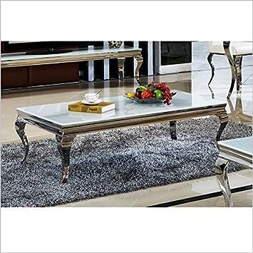 Amazonde Couchtisch Wohnzimmertisch Luxus Aura 120 X 42 Cm Weiss Barock Stil Tisch Rokoko