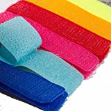 Set Of 6 Multipurpose Colorful  Ties for Curtain Cables Wires Straps to Organize the mess on your Desk Home Office Car (Assorted Colors)