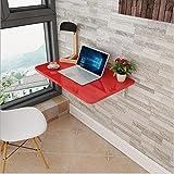Zhuozi FUFU Wandhalterung Wand-Klapptisch Esstisch Tisch Tisch Computer Schreibtisch Hinweis Tabelle 13 Größen Drop-Blatt-Tabelle (Farbe : Rot, Größe : 90*50)
