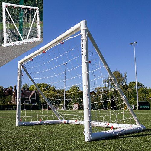 QUICKPLAY Q-Fold   Das Faltbare, innerhalb von 30 Sekunden aufstellbare Fußballtor für den Garten [Einzeltor] wetterfeste Fußballnetz für Kinder und Erwachsene - 2 Jahre GARANTIE