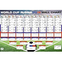 Close Up World Cup 2018 Russia, Schedule XL Poster | All groups and matches 68.5cm x 101.5cm (40x27 inches)