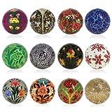 Decorazione di Pasqua appeso carta pesta mestiere ornamenti set di 12 palline
