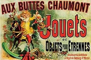 Publicité - Rétro Aux Buttes Chaumont Jouets Poster Grand Format 61 x 91.5 cm Plastifié