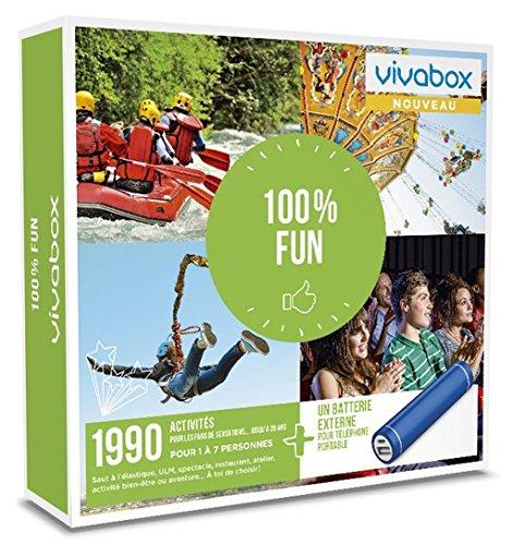 Vivabox - Coffret cadeau loisirs - 100% FUN - 1990 activités: jeux, ULM, soins... +...