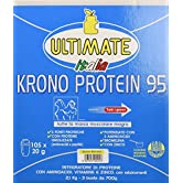Krono Protein 95-4 Proteine Del Latte, Albume d'Uovo, Proteine Isolate Della Soia - 5 Aminoacidi - Massimo Valore Biologico - Nutre I Muscoli Per 5 Ore - Gusto Banana – 2,1 Kg - Ultimate Italia - 61fl76zjfFL. SS166