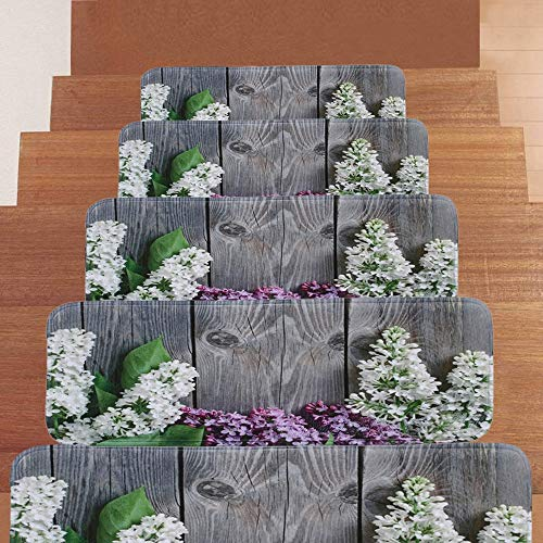 DZWLYX Treppenmatten Gummi Textilfaser - Stufenmatten,Stufenmatten Kleinformat Für Raumspartreppen/Wendeltreppen(22 X 70 cm) (Size : 10pieces)