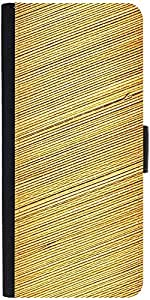 Snoogg Bamboo Mat Background Designer Protective Phone Flip Case Cover For Lenovo A6000