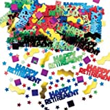 Amscan International Metallic Confetti Rockin Retirement