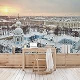 Apalis Vliestapete Winter in St. Petersburg Fototapete Breit | Vlies Tapete Wandtapete Wandbild Foto 3D Fototapete für Schlafzimmer Wohnzimmer Küche | mehrfarbig, 94868