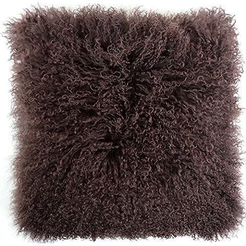 SNUGRUGS Mongolian lunghi e ricci lana di pecora Cuscino/cuscino e cuscino interno