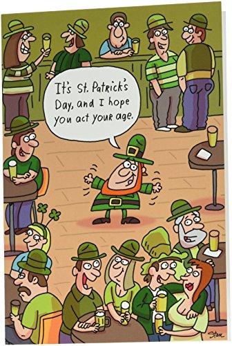 NobleWorks 4498 Grußkarte zum St. Patrick's Day mit Umschlag 12,7 x 17,8 cm