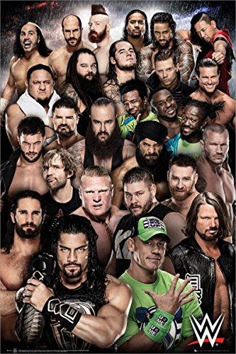WWE Laminiert Superstars 2018 Maxi Poster 61 x 91,5 cm