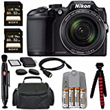 "Nikon COOLPIX B500 Digital Camera (Black) + NiMH Batteries And Charger Set + Sony 32GB UHS-I SDHC Memory Card (Class 10) + SD/microSD Memory Card Reader + Tripod + 6"" HDMI To Micro HDMI Cable Bundle"