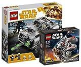 Star Wars LEGO Moloch's Landspeeder 75210 Spielzeug + LEGO 75193 - Millennium Falcon Microfighter, Spielzeug