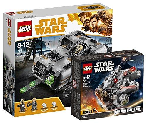 Star Wars Lego Moloch 's landspeeder 75210juguete + Lego 75193-Millennium Falcon Micro Fighter, Juguete