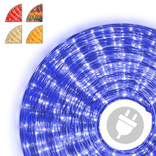 Nipach GmbH 10m Microlichter Lichterschlauch Lichtschlauch blau - Innen- und Außenbereich - Licht-Dekoration für Garten Fest Weihnachten Hochzeit Gesamtlänge ca. 11,50 m