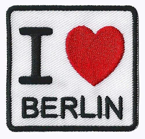 Parche insignia termoadhesivo I love Berlin