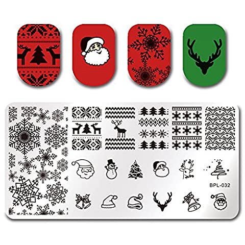 Plaque Nail Art Ongle - Born Pretty Plaque De Stamping Ongles Nail