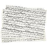 Paper concept papier kraft imprimé, a4 21x30 cm, notes de musique, 10 feuille