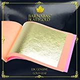 Barnabas Echtes Blattgold Lose 22 Karat, 85 X 85mm, 25 Blätter in Blattsammlung