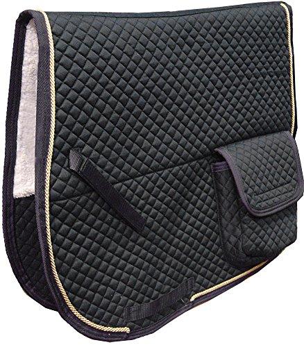 Derby Originals Dressur Schabracke mit Taschen & Half Fleece, schwarz