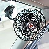 THEE Mini Auto Ventilator Saugnapf Lüfter Kühlluftgebläse 360 Grad Drehbare Kühlventilatoren leise Windmaschine für Fahrzeug LKW PKW