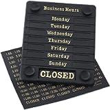 Beaumont DL226 Door Sign - Open/Closed Business Shop Window 207X162X7mm, Black