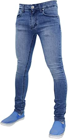 Mens G-72 Stretch Skinny Slim Fit Denim Jeans Cotton Pants (40W X 30L, Stone Wash)
