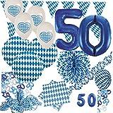 50. Geburtstag XXL 72 Teile Bavaria Party Deko Set Oktoberfest für 20 Personen