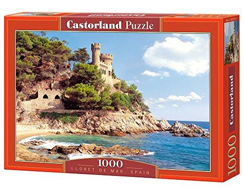PUZZLE 1000 TEILE Lloret de Mar SPANIEN BURG SCHLOSS SCHLOss MEER C-100774-1 von Castorland